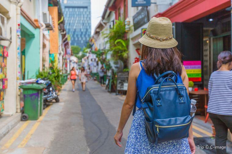 Tourist on Singapore Street
