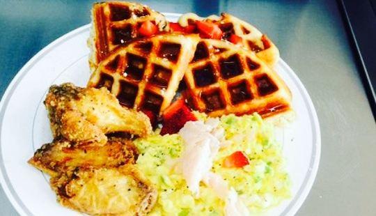 Fantasy Twist Smoothie, Wraps and Waffles