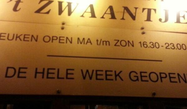 Restaurant \u0027t Zwaantje Reviews Food \u0026 Drinks in Noord