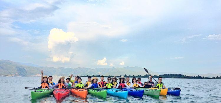 皮划艇漫遊洱海1