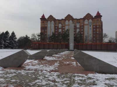 the Memorial to Unknown Soldiers in Blagoveshchensk