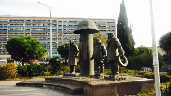 Monument to Characters of Movie Mimino