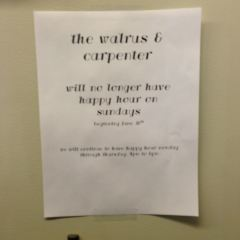 The Walrus and the Carpenter User Photo