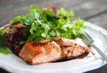 温哥华美食图片-三文鱼