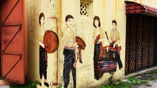 怡保新街場後巷壁畫