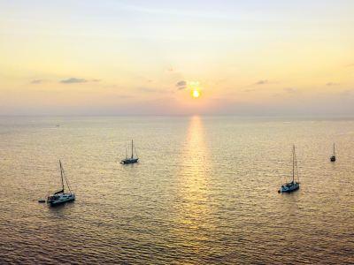 神仙半島帆船日落