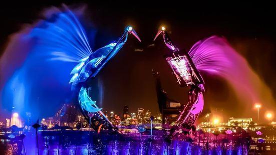 Crane Dance at Resort World Sentosa