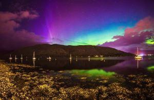 蘇格蘭高地,極光