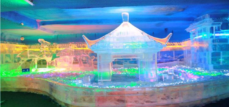 Central Street Colorful Ice Sculpture World