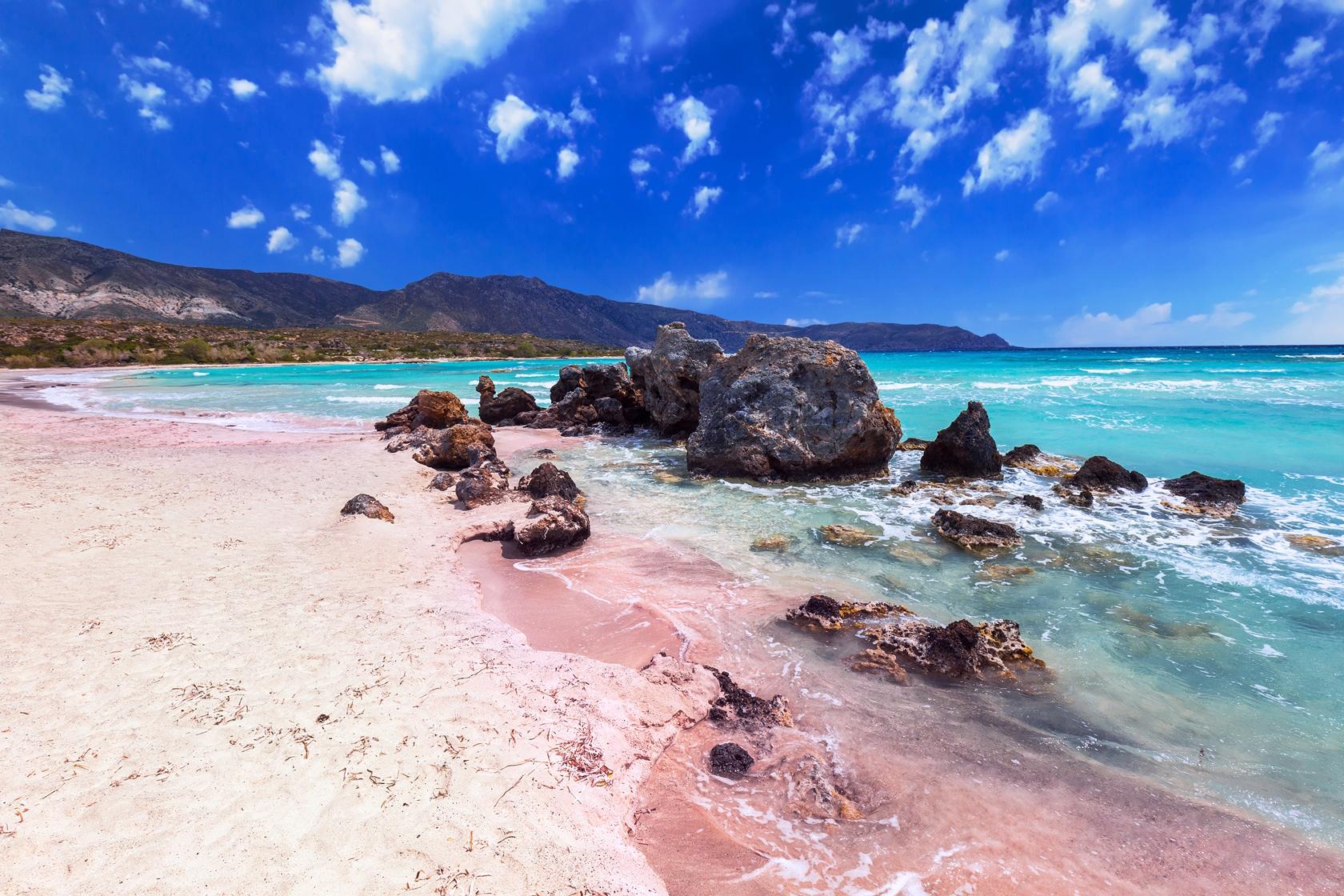 粉紅色沙灘