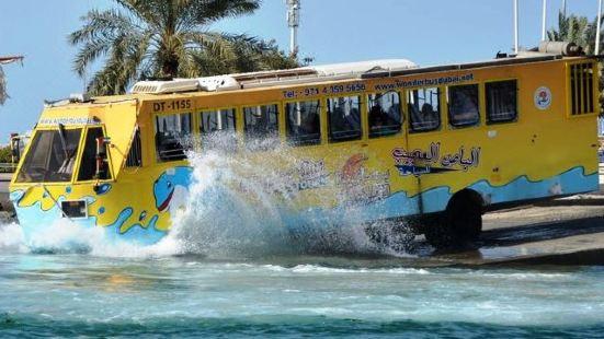 Dubai amphibious bus tour experience