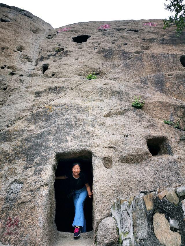 秋季北京郊區探古尋幽,找生活在懸崖上的遠古媯州人