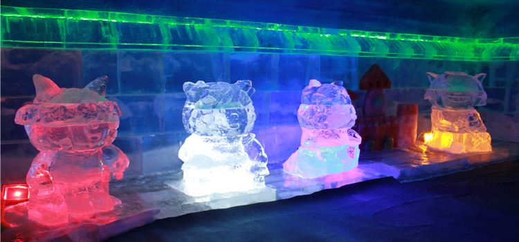 Central Street Colorful Ice Sculpture World2