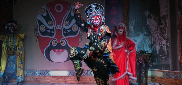 가이완얼∙리위안차관(개완아·이원다관, 쓰촨 전통극 변검 공연장)3