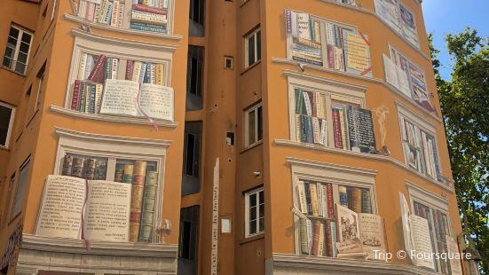 城市圖書館之牆