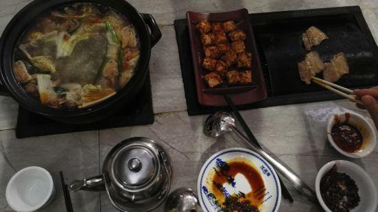 老宅瓦片燒烤火鍋