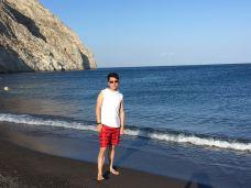 卡马利黑沙滩-圣托里尼-紅氿