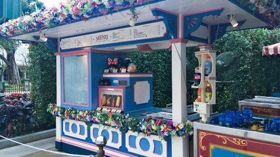 美國小鎮大街爆米花、棉花糖、冰凍雪條售賣點