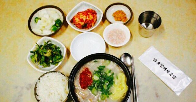 Pohang pork soup rice