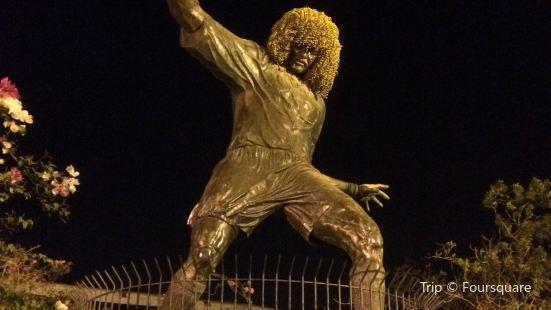 """Carlos """"El Pibe"""" Valderrama Statue"""