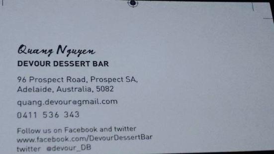 Devour dessert bar