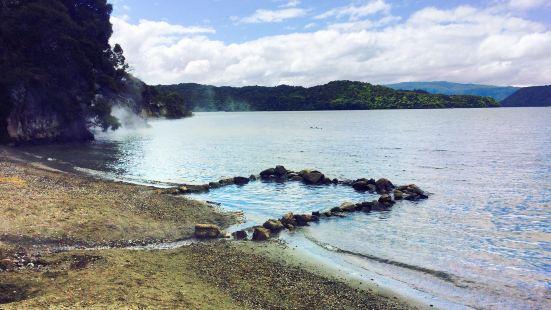 Lake Tarawera's Hot Water Beach