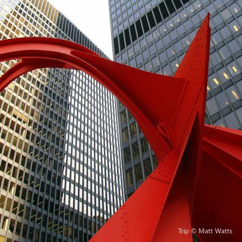 Alexander Calder Flamingo Sculpture