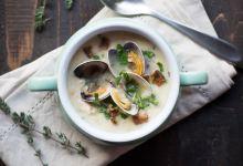 西雅图美食图片-奶油蛤蜊浓汤