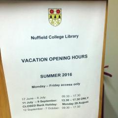 Nuffield College User Photo