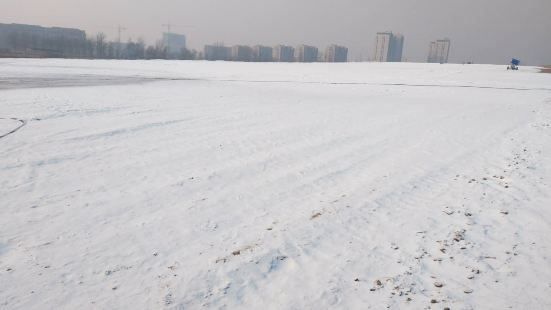 Yongding River Cycling Park Winter Wonderland