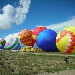 Hot Air Balloon over Qinghai Lake User Photo