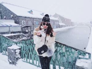 Otaru,snowscene