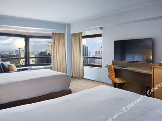紐約市中心希爾頓酒店(New York Hilton Midtown)城市兩張雙人床房