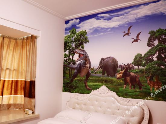 Q加·泰萊半島國際公寓(珠海橫琴海洋王國店)(Tailai Peninsula International Apartment (Zhuhai Hengqin Changlong Ocean Kingdom))侏羅紀恐龍天地三房一廳套房