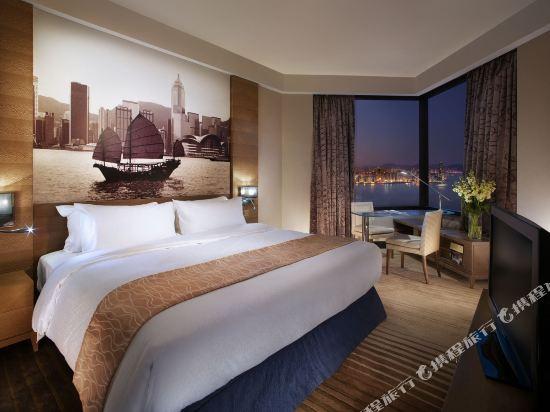 香港港島海逸君綽酒店(Harbour Grand Hong Kong)貴賓樓層豪華海景客房