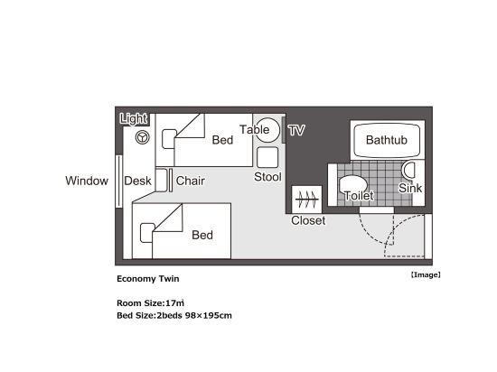 大阪新阪急酒店(Hotel New Hankyu Osaka)05_Economy Twin