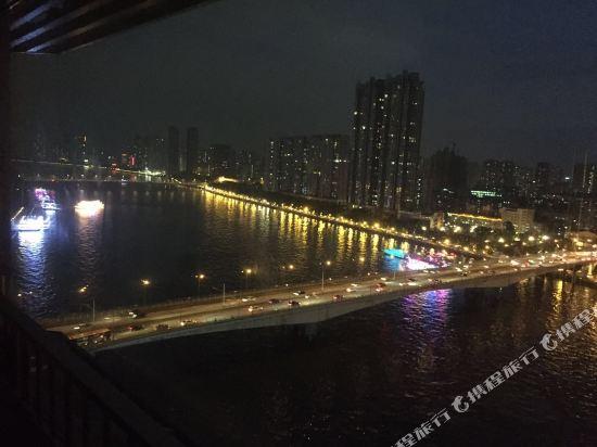 港潤寓上江灣公寓(廣州沿江天字碼頭店)(原江灣大酒店)(Gangrun Yushang Jiangwan Apartment (Guangzhou Yanjiang Tianzi Wharf))眺望遠景