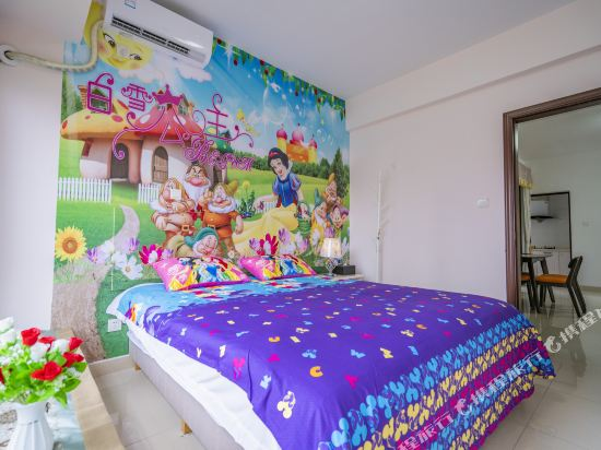Q加·泰萊童趣主題公寓(珠海橫琴海洋王國店)(Q+ Tailai Tongqu Theme Apartment (Zhuhai Chimelong Ocean Kingdom))麻將娛樂三房二廳套房