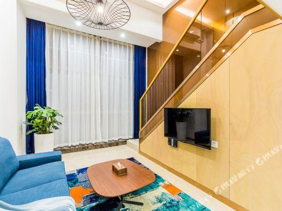 SA漢谷藝術主題公寓(廣州珠江新城店)(SAHangu Art Themed Apartment)雲舍·豪華城景雙床房