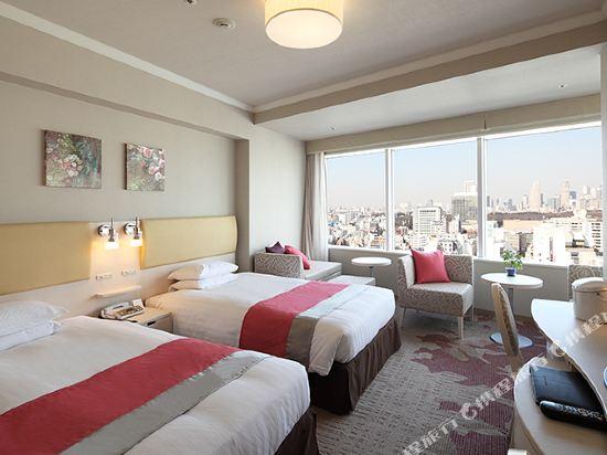 東京東急澀谷卓越大飯店(Shibuya Excel Hotel Tokyu Tokyo)女生高級轉角雙床房