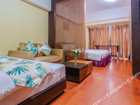 廣州臨江上品維福頓公寓(琶洲會展中心店)(Linjiang Shangpin Weifudun Apartment (Pazhou Complex))豪華城景雙床房