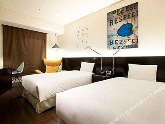 東京汐留皇家花園酒店(The Royal Park Hotel Tokyo Shiodome)標準雙床房-Bo Concept設計(概念樓層)