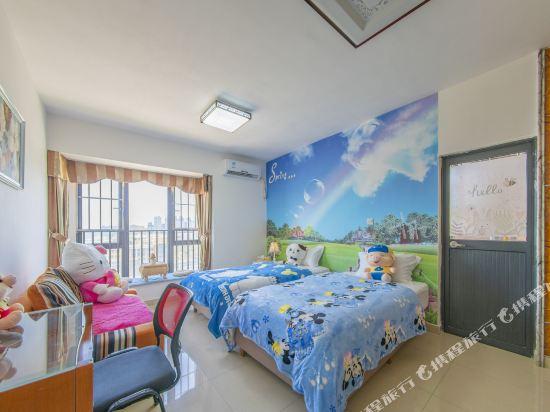 Q加·泰萊童趣主題公寓(珠海橫琴海洋王國店)(Q+ Tailai Tongqu Theme Apartment (Zhuhai Chimelong Ocean Kingdom))高級雙床房