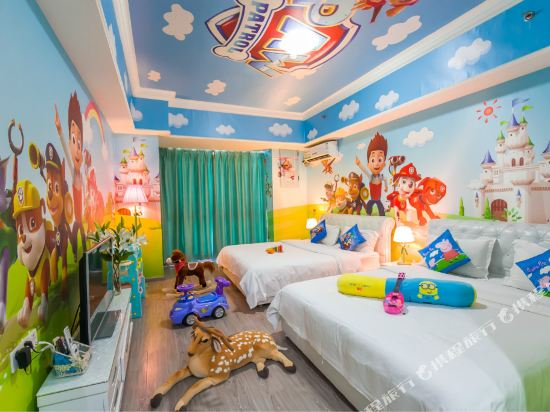 夢幻樂園親子主題公寓(廣州萬達廣場店)(Dreamland Family Theme Apartment (Guangzhou Wanda Plaza))汪汪隊立大功度假雙床房