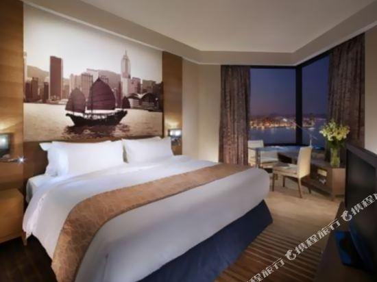 香港港島海逸君綽酒店(Harbour Grand Hong Kong)豪華海景房-帶加床