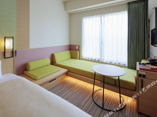 大阪難波光芒酒店(Candeo Hotels Osaka Namba)城景行政超大雙床房