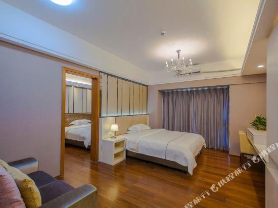 佰合精選國際度假公寓(北京路方圓時光店)(Baihe Selected International Holiday Apartment (Beijing Road Fangyuan Shiguang))豪華2房1廳套房