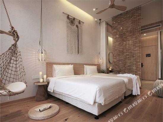 上海浦東機場江鎮亞朵S酒店(Atour S Hotel Shanghai Pudong Airport)幾木庭院雙床房