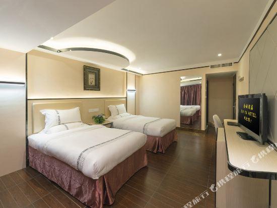 金域酒店(珠海拱北口岸步行街店)(Jin Yu Hotel (Zhuhai Gongbei Port Pedestrian Street))精選雙床間(無窗)