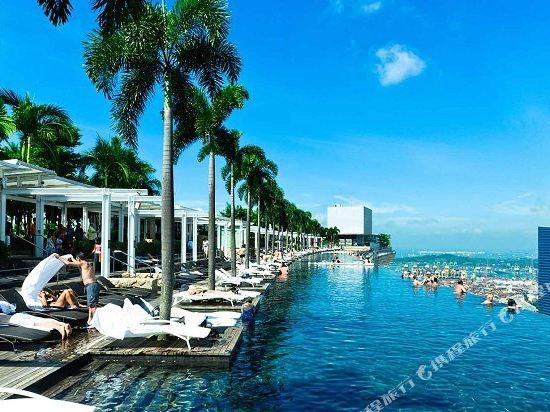 新加坡濱海灣金沙大酒店(Marina Bay Sands Singapore)室外游泳池